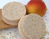Delicious Peach Oatmeal Exfoliating Glycerin Soap