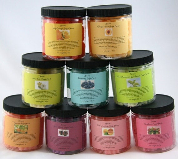 Choice of Five Solid Sugar Scrubs Plus FREE Lip Balm Thirty One Scents to Choose From