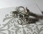 Beaded Wirework Thumb Ring