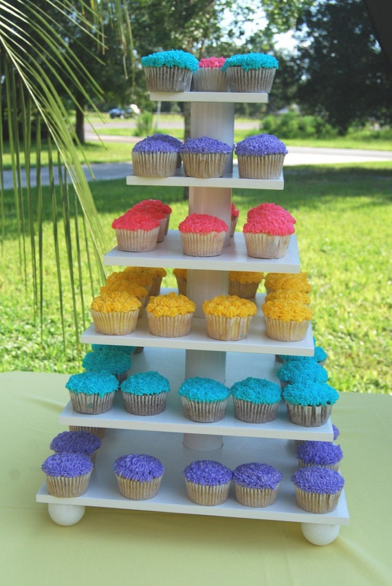 square 6 tier cupcake stand tower holder cupcake tree