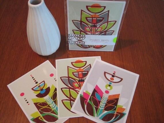 Modern Topiary Postcard Set