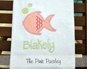 Little Fishy Applique Beach Towel