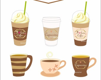 Coffee Cup Border Clip Art Images & Pictures - Becuo