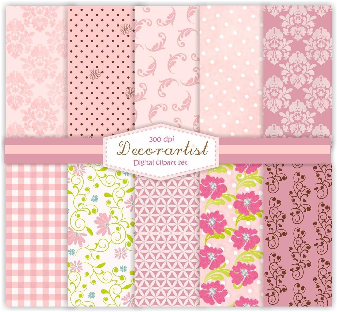 Scrapbooking Pink Flowers Pink Scrapbooking Card