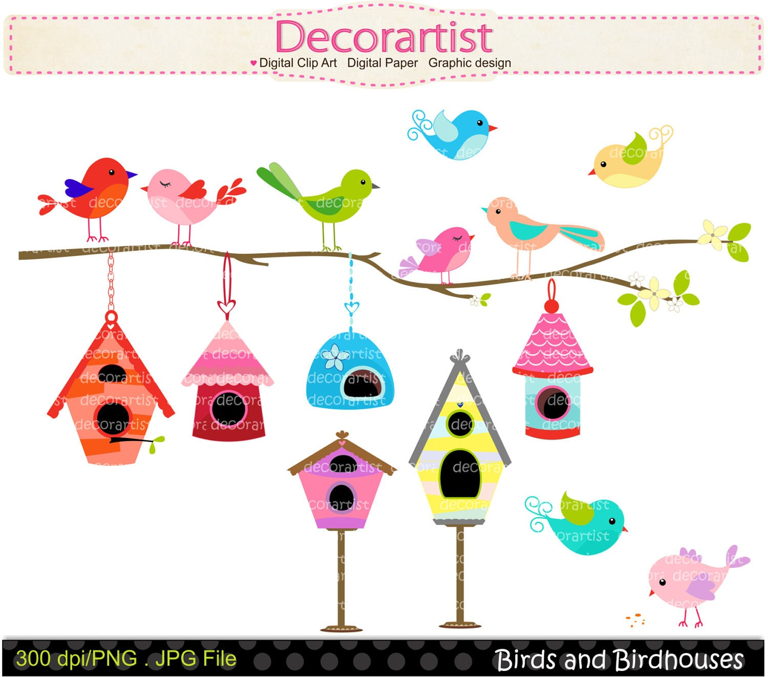 Displaying 20> Images For - Whimsical Birdhouse Clipart...