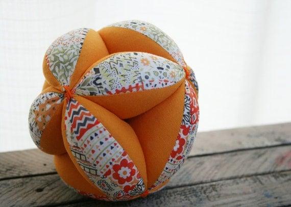 Sensory Ball for Baby with Liberty London Cotton Print