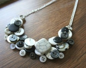 The Marbled Button Necklace