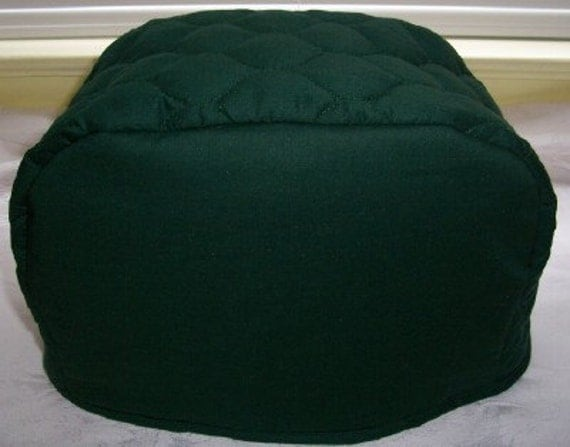 dark green 2 slice toaster cover by cozykitchencovers on etsy. Black Bedroom Furniture Sets. Home Design Ideas