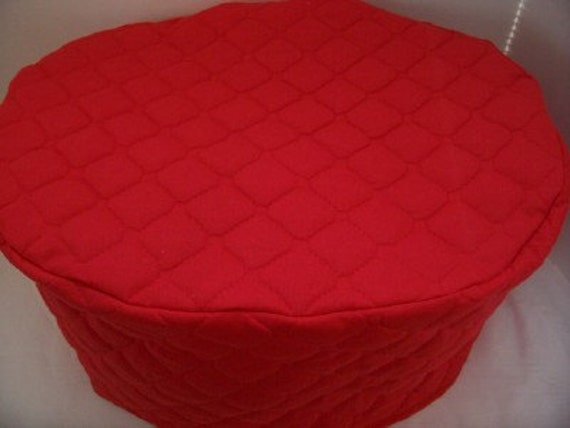 Red Oval Crock Pot Cover