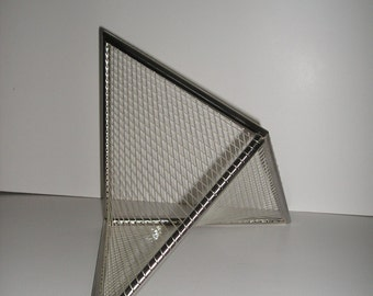 Sculpture geometric Stainless steel and Cord