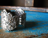 Luzerne's Lace ring fine silver Made to Order