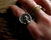 silver circus lion ring : size 8 . Lars the Lion . handmade silver, one of a kind