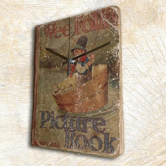 Nostalgic Vintage Book  Wall Clock