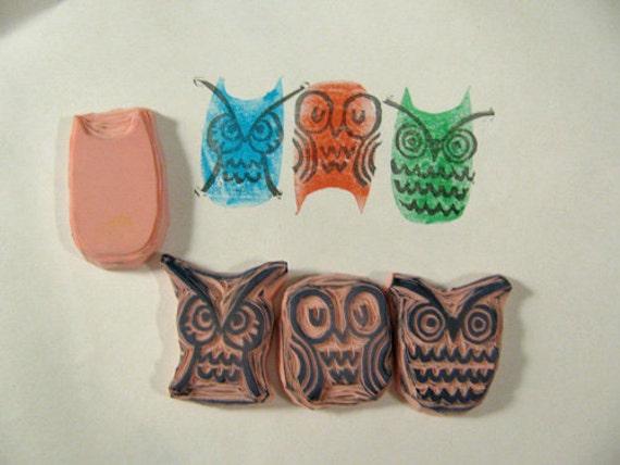 Funky Owls Stamp set