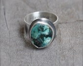 Raw Southwest Turquoise and Silver Ring