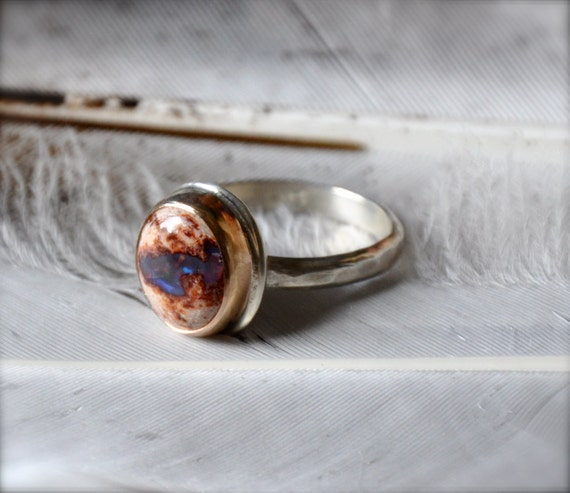 Jelly Opal Gold and Silver Stacker Ring