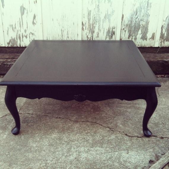 Vintage Queen Anne Black Coffee Table