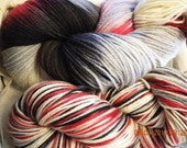 THE WHITE QUEEN - Special Edition - Hand Dyed Merino/Silk Sock 440 yds