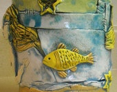 Mermaid and Fish Ceramic Pot