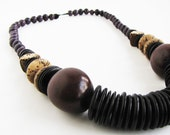Summer SALE 30% OFF - Purple & Brown Seed Tagua Necklace