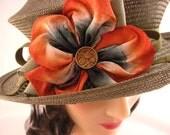 Silk Rose Pin - Orange Coral