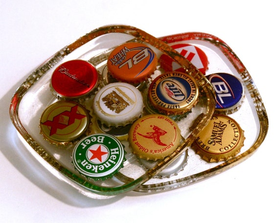Beer Bottle Cap Coasters - Set of 4