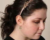 Brass Antiqued Metal Lily of the Valley Headband