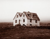 Iceland Farmhouse - Art Photography Print - Lonely - Abandoned - Old House - Isolated - Twin - empty - windows - alone - remote