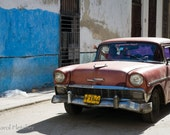 In Good We Trust - Havana Cuba - Fine Art Photography Print - 8x12 - vintage car - street scene