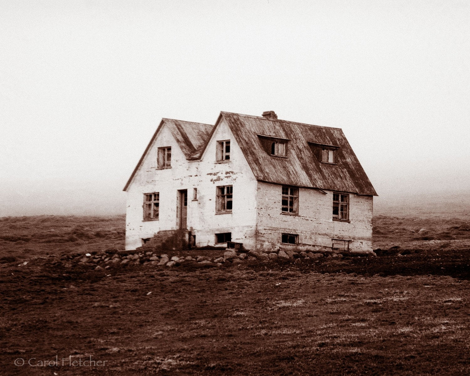 Iceland farmhouse art photography print lonely by for Iceland lonely house