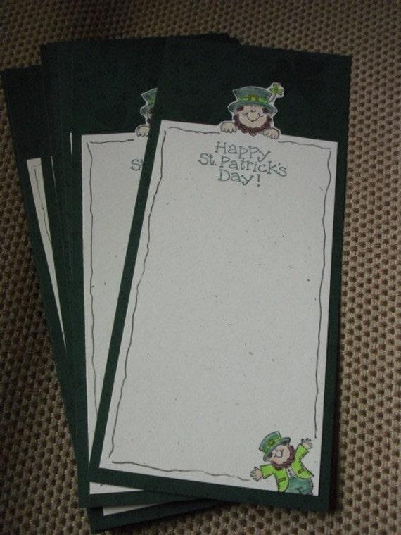 Set of 8 St. Patrick's Day Postcard Style Cards