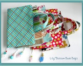 PDF Sewing Pattern Book Bag Cover with Beaded Bookmark
