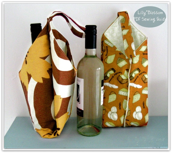 Pdf Sewing Pattern Wine Bottle Carrier By Lillyblossom On Etsy
