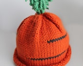 NEW SOFT Beech Wood, Pima Cotton Fibers - Baby Beanie, CARROT...Choose Your Size
