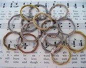 Recycled Guitar String Ring in YOUR CHOICE of acoustic brass, acoustic bronze or electric      Promise, Engagement, Wedding, Anniversary
