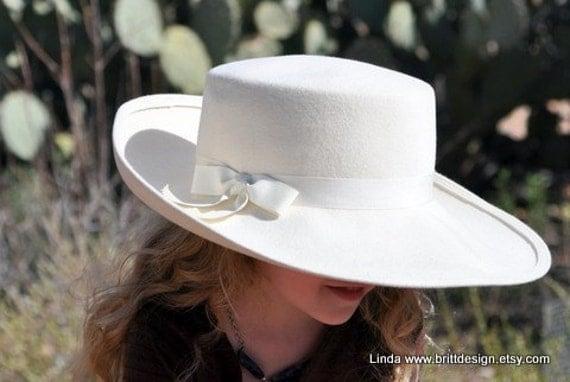 Vintage Adolfo II Hat -Beautiful White Fur Felt