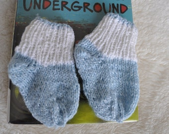 Baby Socks in Blue and White