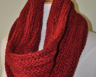 Large Cowl/Neckwarmer in Burgundy READY TO SHIP