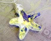 Swarovski Crystal Starfish Aurora Borealis Pendant