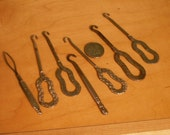 Antique Victorian Hooks for Laceing