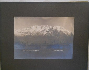 Olsen Hafen early Black and White Photo of Mt. Timpanoqos Provo Utah
