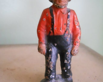 Cast Iron Amish Man