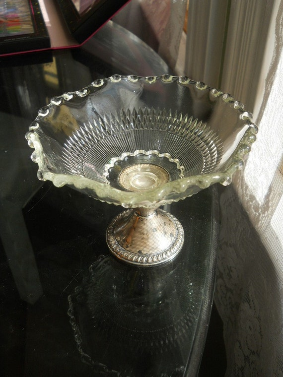 Sterling and Crystal Candy Dish