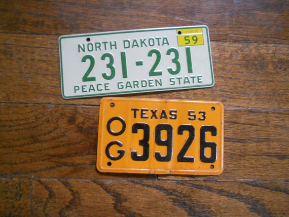 1953 & 1959 Bicycle License Plates