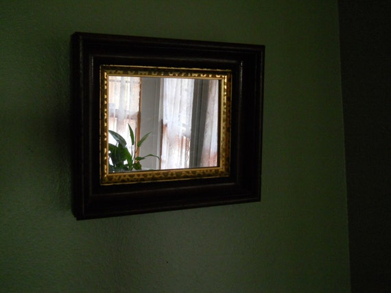 Small Antique Mirror with Gold inset