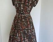 1950s dress // 50s day dress // bolero jacket dress