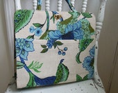1960s handbag // 60s margaret smith purse // floral linen handbag