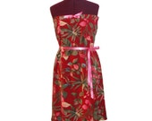 on sale Ruby Red Floral Dress Size Medium