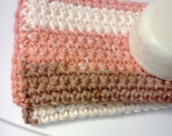 Facial Cloths.....set of 2 in Autumn Colors