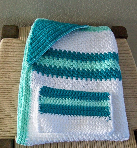 ON SALE NOW......Hooded Bath Blanket with Washcloth